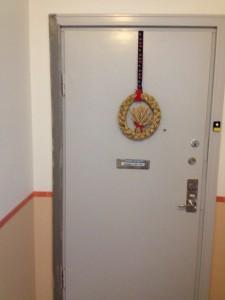 Ljusgrå dörr